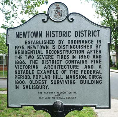 Newtown Maryland Sign
