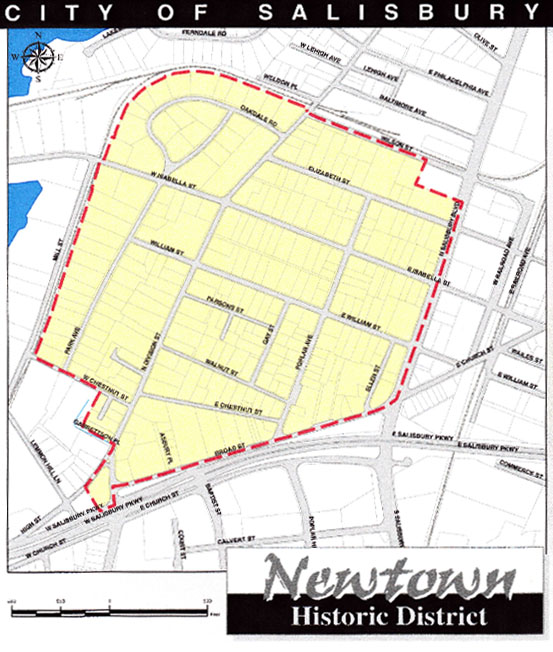 newtown-maryland-district map