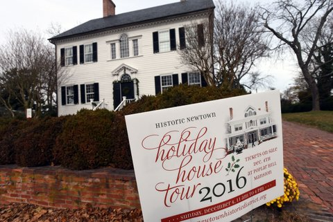 The Poplar Mansion during the Newtown House Tour on Sunday, December 4, 2016. --kristin roberts photo